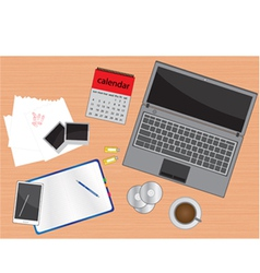 business desk vector image vector image