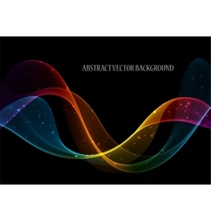 Wave abstract images color design Abstract vector image vector image