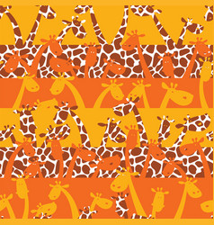 cute giraffes with skin texture vector image