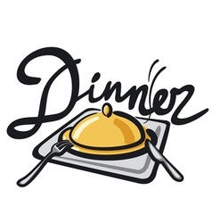 dinner sign vector image