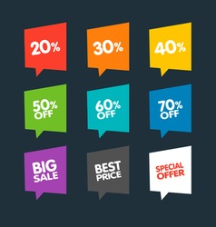 Flat Discount Labels vector image vector image