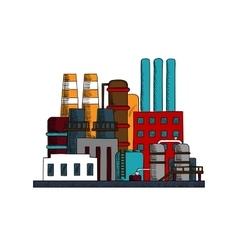 Industrial refinery factory buildings set vector image