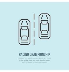 Racing sport car line icon Speed vector image vector image
