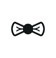 simple black Bow icon on white background vector image