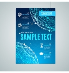 Card Flyer or Placard with Abstract Geometry vector image