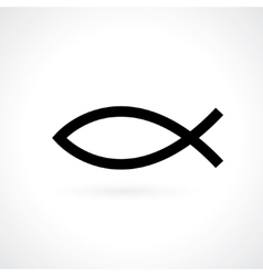 christian fish vector image