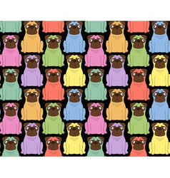 Funny colored dogs Seamless background vector image