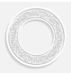 paper ornamental round frame vector image