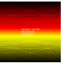 abstract red and yellow line geometric polygonal vector image