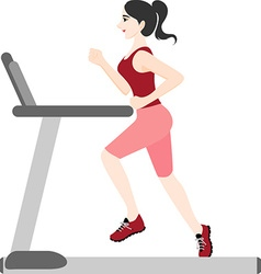 Active woman vector
