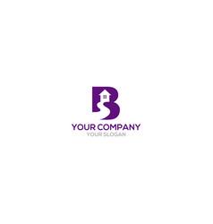 B home logo design vector