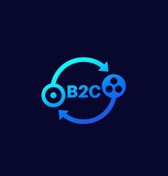 B2c icon on dark vector