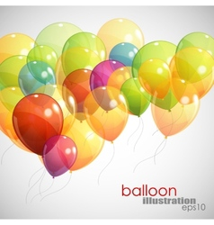 background with multicolored flying balloons vector image