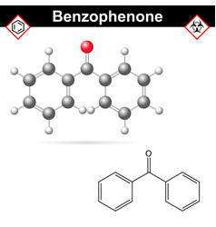 Benzophenone organic chemical vector