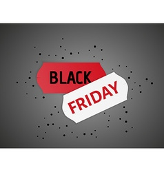 Black friday stickers and black dots vector