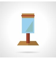 Blue lightbox icon flat style vector
