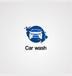 car wash logo icon element and template vector image