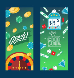 casino gambling vertical banners vector image