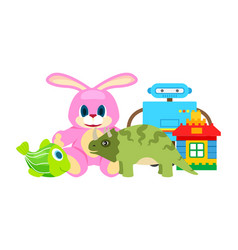 children toys collection vector image
