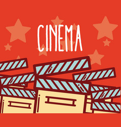 cinema cartoons design vector image
