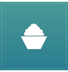 Cupcake web icon design vector