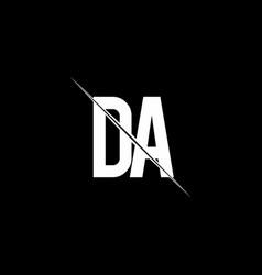 da logo monogram with slash style design template vector image
