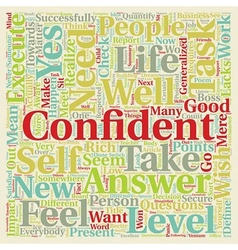Did You Check Your Confidence Level text vector image