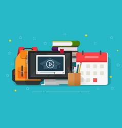 educational concept on desk vector image
