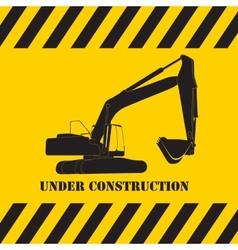 Excavator Work Under Construction vector