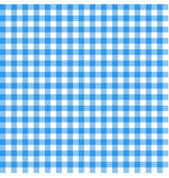 Gingham seamless pattern blue italian tablecloth vector