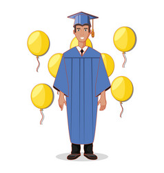 graduate man avatar character vector image
