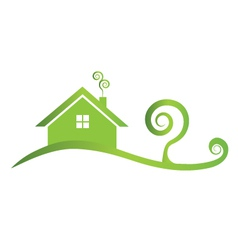 Green house icon logo vector