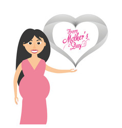 Happy mothers day invitation card vector