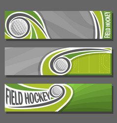 Horizontal banners for field hockey vector