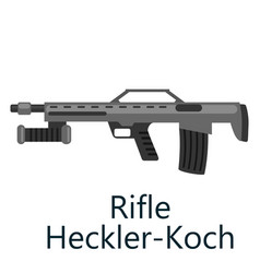 hunting repeating air rifle hecker-koch weapon vector image