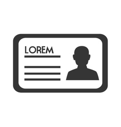 Identification ID icon vector