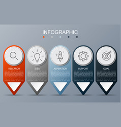 infographic template with arrow on gray background vector image