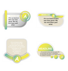 Infographics template four options with paper vector