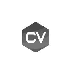 Initial letter cv logo template design vector