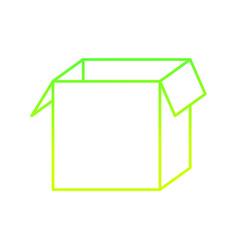 Isolated box design vector