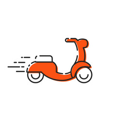 isolated moped icon outline scooter mbe on vector image