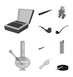 Isolated object health and nicotine sign vector