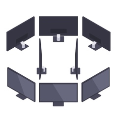 Isometric HD Monitor vector image