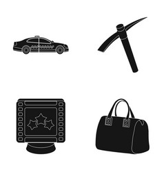 maintenance premium and other web icon in black vector image