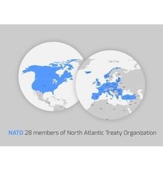 NATO member countries vector image