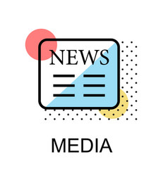 News icon for media on white background vector