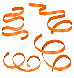 Orange streamers vector