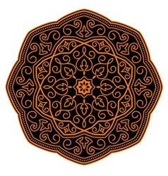 ornamental circle pattern vector image