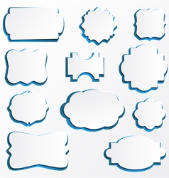 Ornate Paper Frames vector image vector image