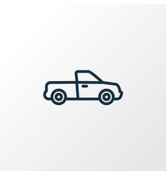 Pickup outline symbol premium quality isolated vector